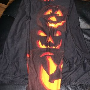 LuLaRoe Jack O'Lantern halloween TC leggings